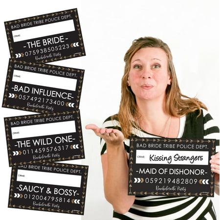 Bride Tribe - Bridal Shower & Bachelorette Party Mug Shots - Photo Booth Props Party Mug Shots - 20 Count](Bachelorette Shop)
