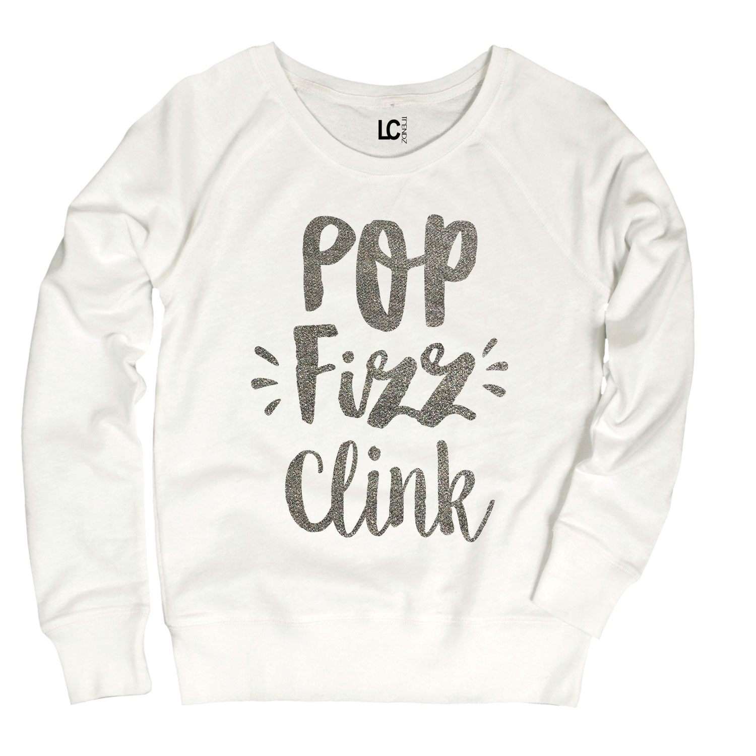 Pop Fizz Clink-Womens Lightweight Slouchy French Terry Pullover