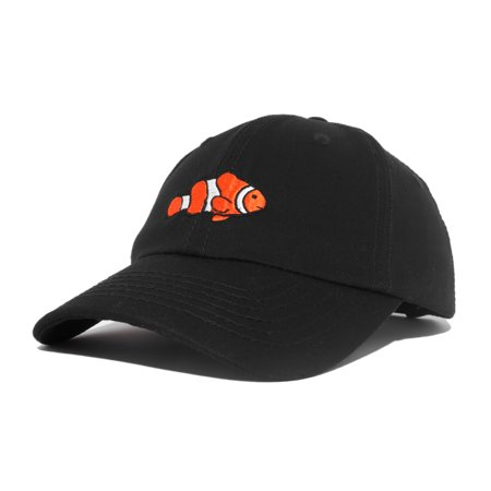 DALIX Clownfish Baseball Cap Tropical Dad Hat for Men Women's Hats in Black