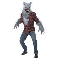 Mens Gray Werewolf Halloween Costume