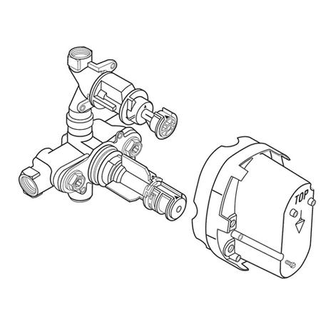 Handle Thermostatic Control Trim (American Standard Ceratherm 2-Handle Thermostatic Trim Kit Mixing Valve )