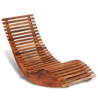 Acacia Wood Rocking Sun Lounger