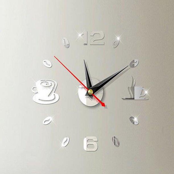 Bowanadacles Modern Diy Large Wall Clock 4d Mirror Surface Home Decor Art Design Walmart Com Walmart Com