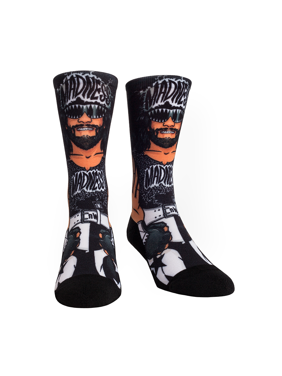 Rock Em Elite Macho Man NWO Licensed WWE Crew Socks  L/XL