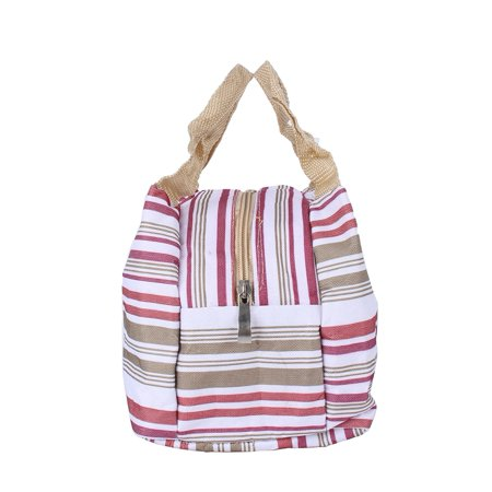Striped lunch bag,PRO Insulated Thermal Cooler Lunch Box Carry Tote Picnic Case Storage Bag EB