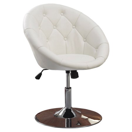 Coaster Company Accent Chair, White Leatherette