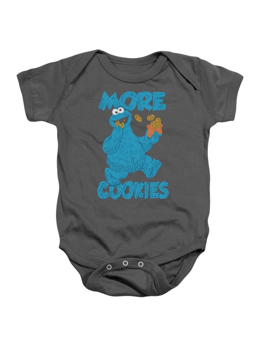 Sesame Street Children's TV Show More Cookies For Monster Infant Romper Snapsuit