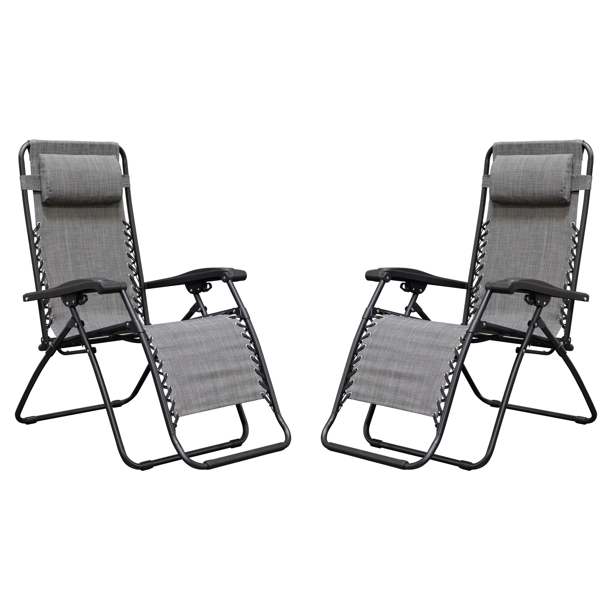 Caravan Sports Infinity Zero Gravity Chair, 2pk, Grey