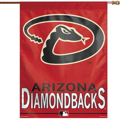 WinCraft Arizona Diamondbacks 27'' x 37'' Vertical Banner Flag - Sedona Red - No Size Arizona Diamondbacks Banner Flag