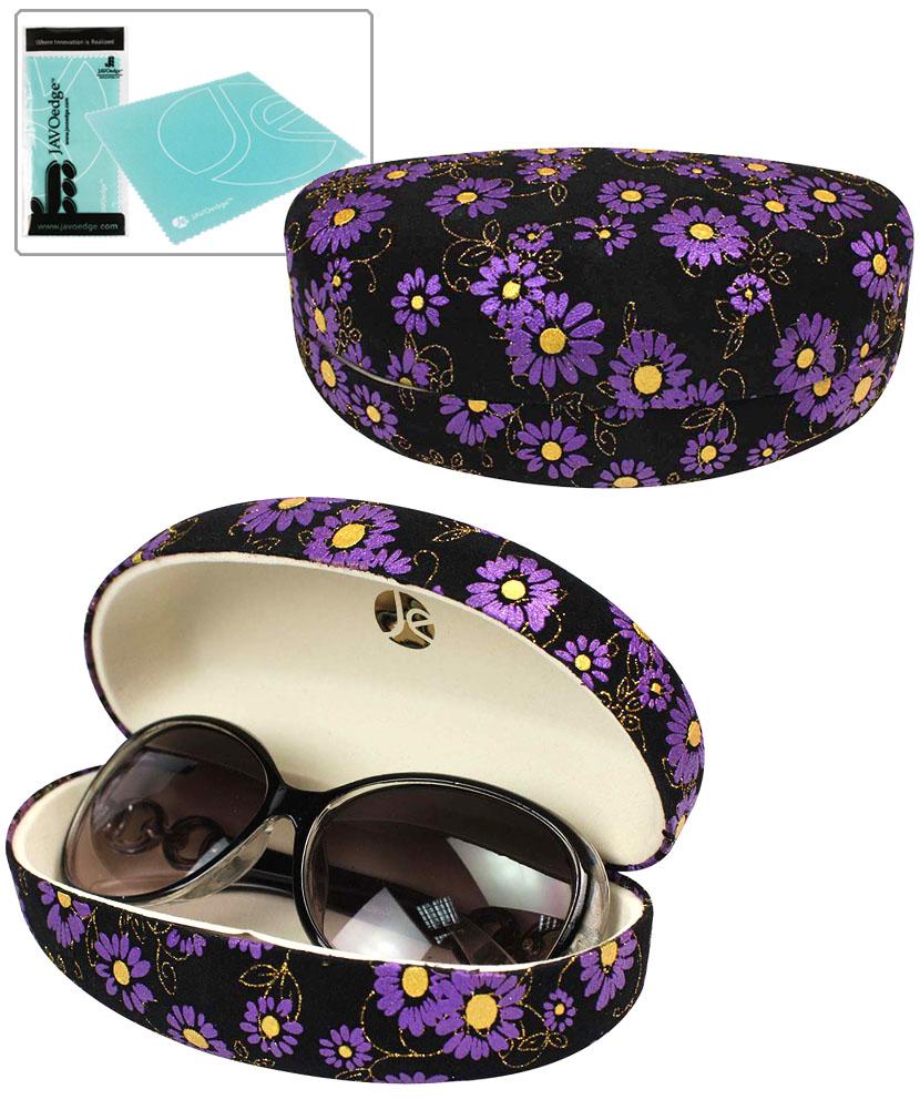 Christmas Candy Train Festival Glasses Case Eyeglasses Clam Shell Holder Storage Box