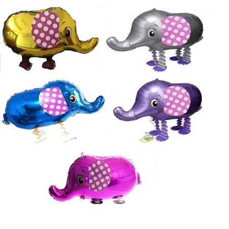 MY BALLOON STORE® TM SET OF 5 ELEPHANT WALKING BALLOONS AIR WALKER ANIMAL PETS HELIUM PARTY DECOR FUN](Elephant Balloons)