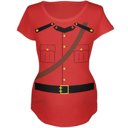 Halloween Canadian Mounty Police Costume Maternity Soft T Shirt - Canada Halloween