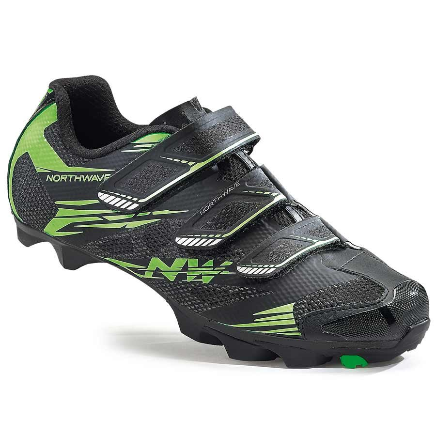 Northwave, Scorpius 2 , MTB shoes, Black/Green Fluo, 46