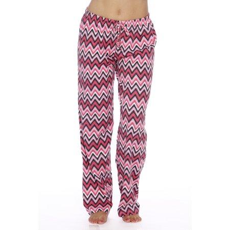 842478116823 Just Love - Just Love Womens Comfy Cotton Pajama Pants (Chevron Pink ...