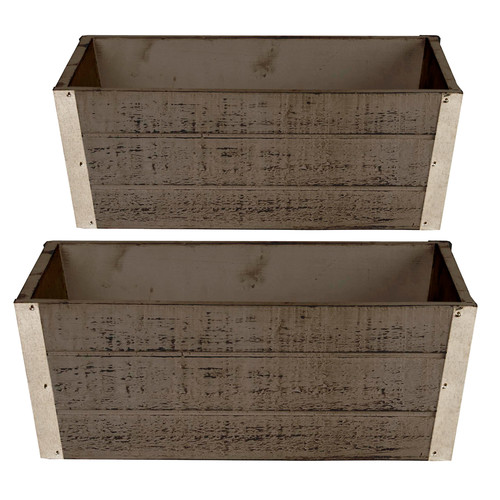 Wald 8134/GRAY-sp3 Set Of 3 Wood Planter