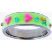 Ring-Green UV Glow Heart-Style 517-Size  5