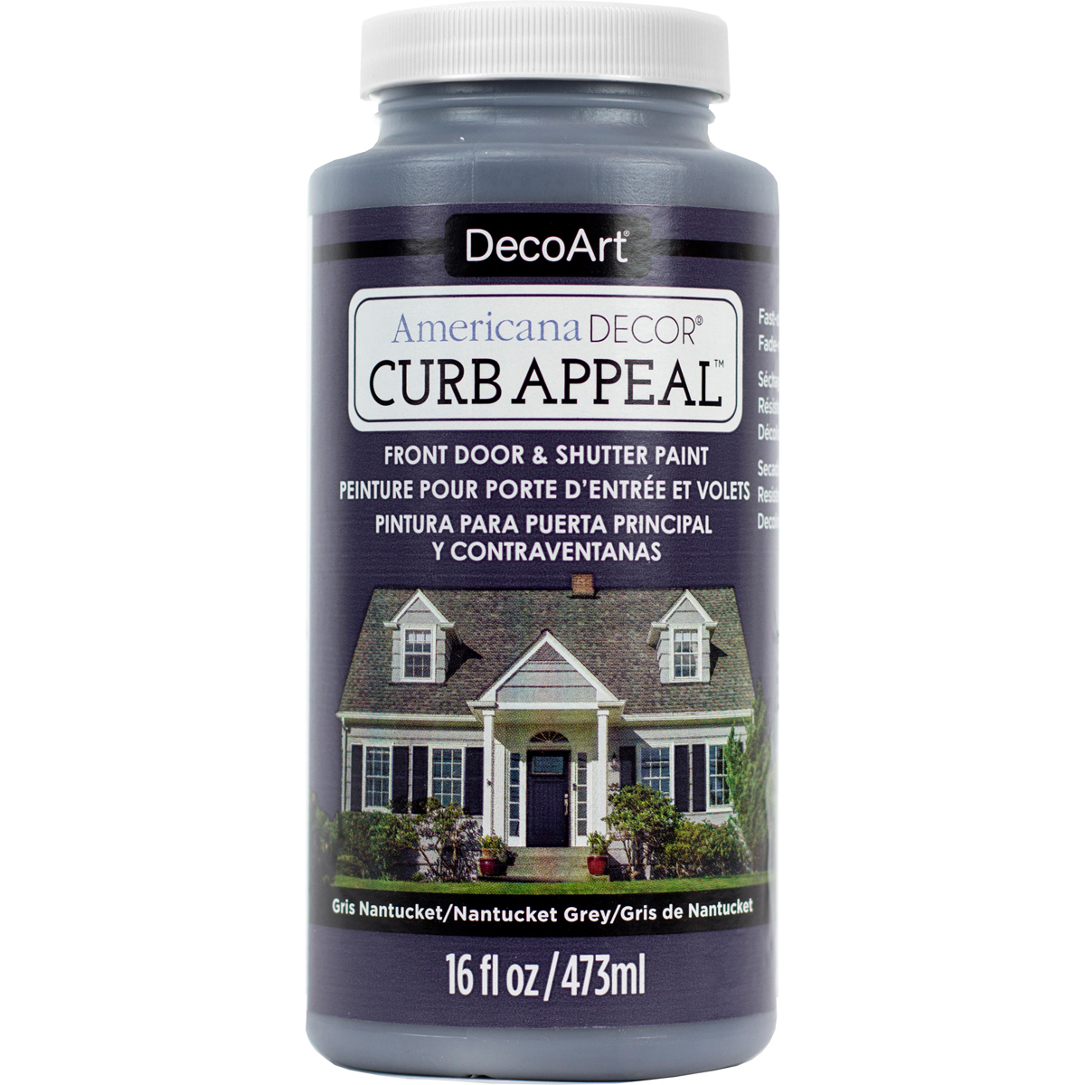 Americana Curb Appeal Paint 16oz-Nantucket Grey