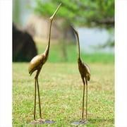 SPI Home San Pacific International Crane Pair Garden Statue