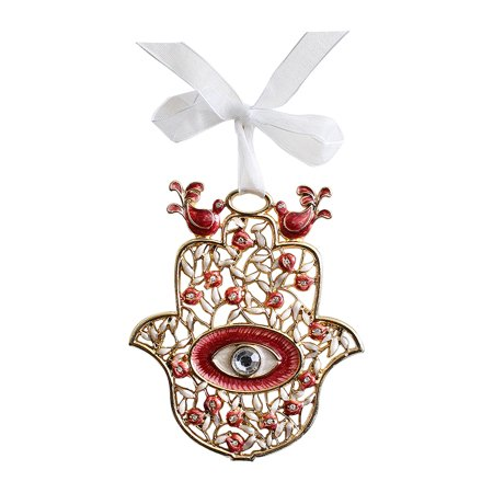 Good luck home wall decor evil eye hamsa blessing with cz for Good luck home decor