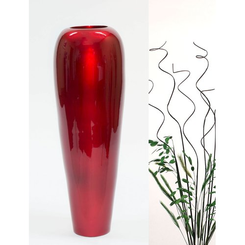 Bungalow Rose Lacquer Bamboo Tapered Floor Vase