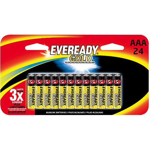 Eveready Gold AAA, 24 Pack