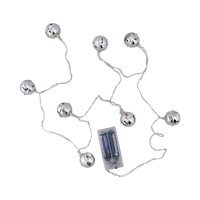 Northlight 8 ct. LED Silver Jingle Bell Novelty Lights with Clear Wire
