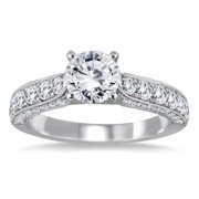 Marquee Jewels  14k White Gold 1 7/8ct TDW Diamond Engagement Ring