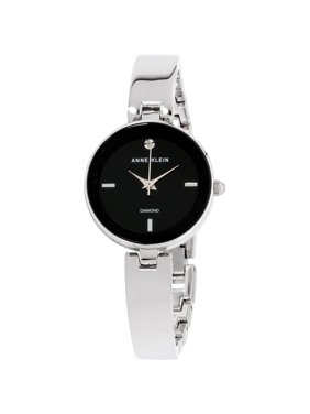 Anne Klein Women's Classic Black Dial Stainless Steel Watch