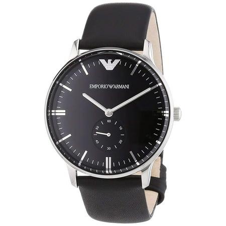 15b616be Emporio Armani AR0382 Classic Black Leather Mens Watch