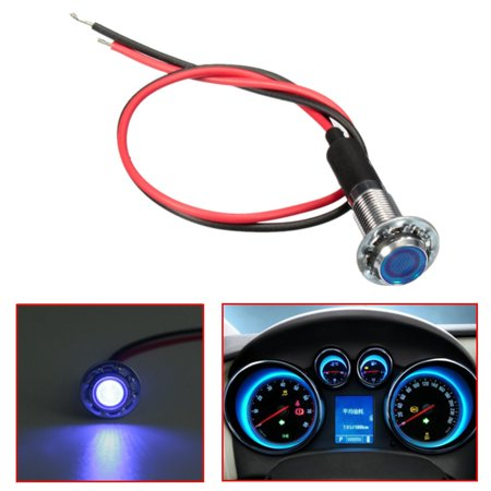 LED Dash Panel Dashboard indicator Warning Indicator Light 8mm 12V Lamp  Bulb Blue Green Amber Red White Waterproof Universal Car Van Vehicle Boat  RV