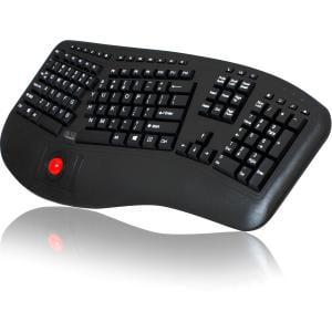 Adesso WKB-3500UB 2.4GHz Wireless Ergonomic Trackball Keyboard