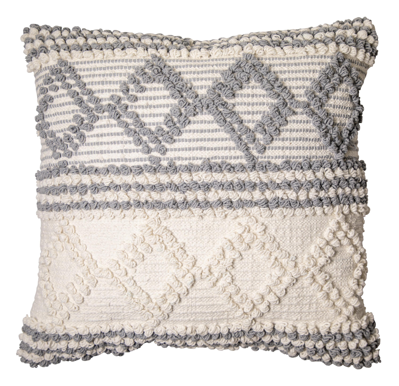 Better Homes Gardens Neutral Textured Decorative Throw Pillow 20 X20 Walmart Com Walmart Com