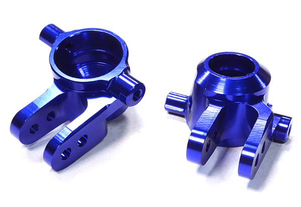 Integy RC Toy Model Hop-ups C26400BLUE Billet Machined Steering Knuckles for Traxxas 1 10... by Integy