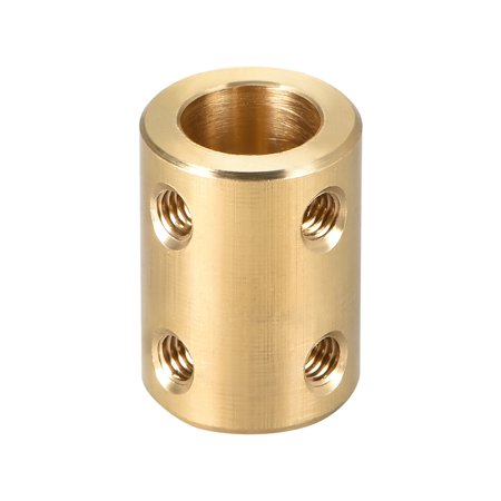Shaft Coupling 10mm to 10mm Bore L22xD16 Robot Motor Wheel Rigid Coupler Connector Gold Tone - image 3 of 3