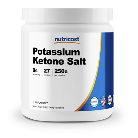 Nutricost Potassium BHB Salts, Exogenous Ketone Supplement, 6.4g Beta-Hydroxybutyrate per Serving, 250