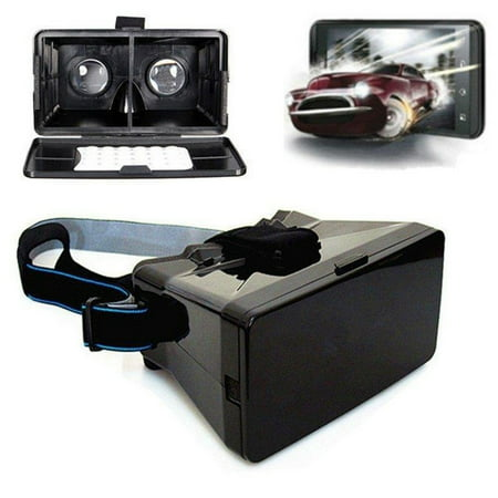 3D Video Glasses Head Mount Plastic Virtual Reality Headset
