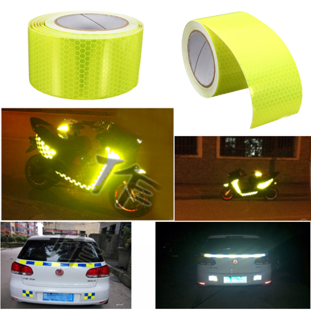 1Roll 5m x 5cm Waterproof PVC Reflective Safety Warning Conspicuity Reminder Tape Sticker Roll Film Trailer (Halloween Fan Film Trailer)