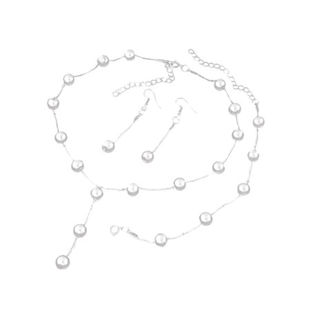 MAXSUN Women Vintage Jewelry Set Pendant Chain Pearl Necklace Bracelet