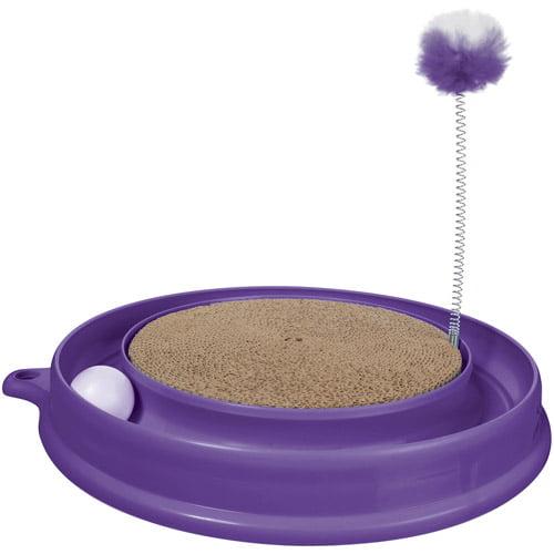 Catit Play n Scratch Toy, Purple