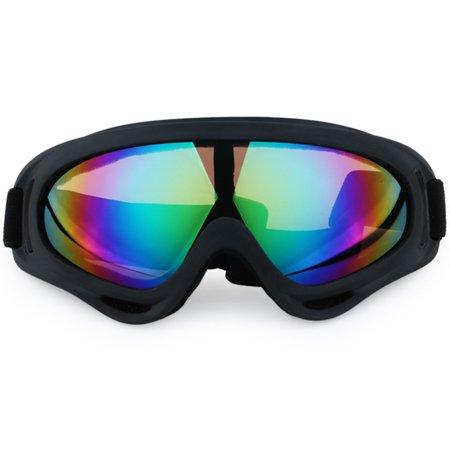 Unisex Ski Goggles Snowboard Goggles Eye Protection, Wind Resistance, Anti-Glare Lenses Colour:Colorful Lens (Googles Eye Protection)