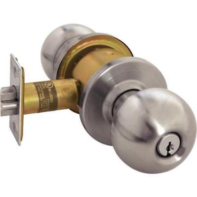 Arrow RK Satin Stainless Steel Non-Handed Entrance Cylindrical Knob Lock (Arrow Locks)