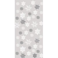 Pack of 240 Large Christmas Snowflake Cellophane Treat Goodie Bags with Ties