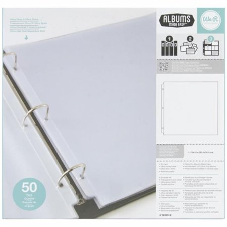 We R Memory Keepers WR660149 Ring Photo Sleeves 12 x 12 in. - Full Page - image 1 of 1
