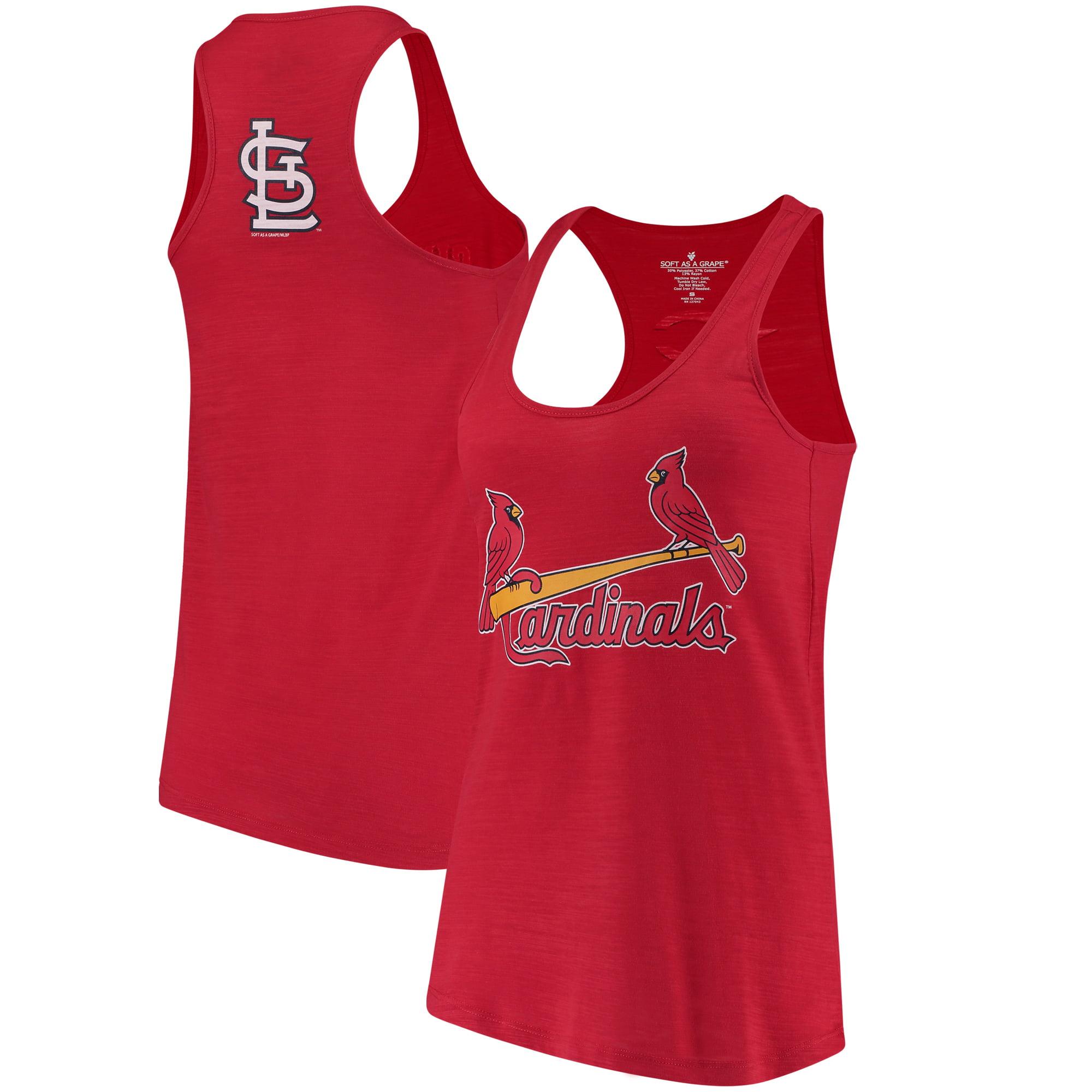 St. Louis Cardinals Soft As A Grape Women's Front & Back Tri-Blend Racerback Tank Top - Red