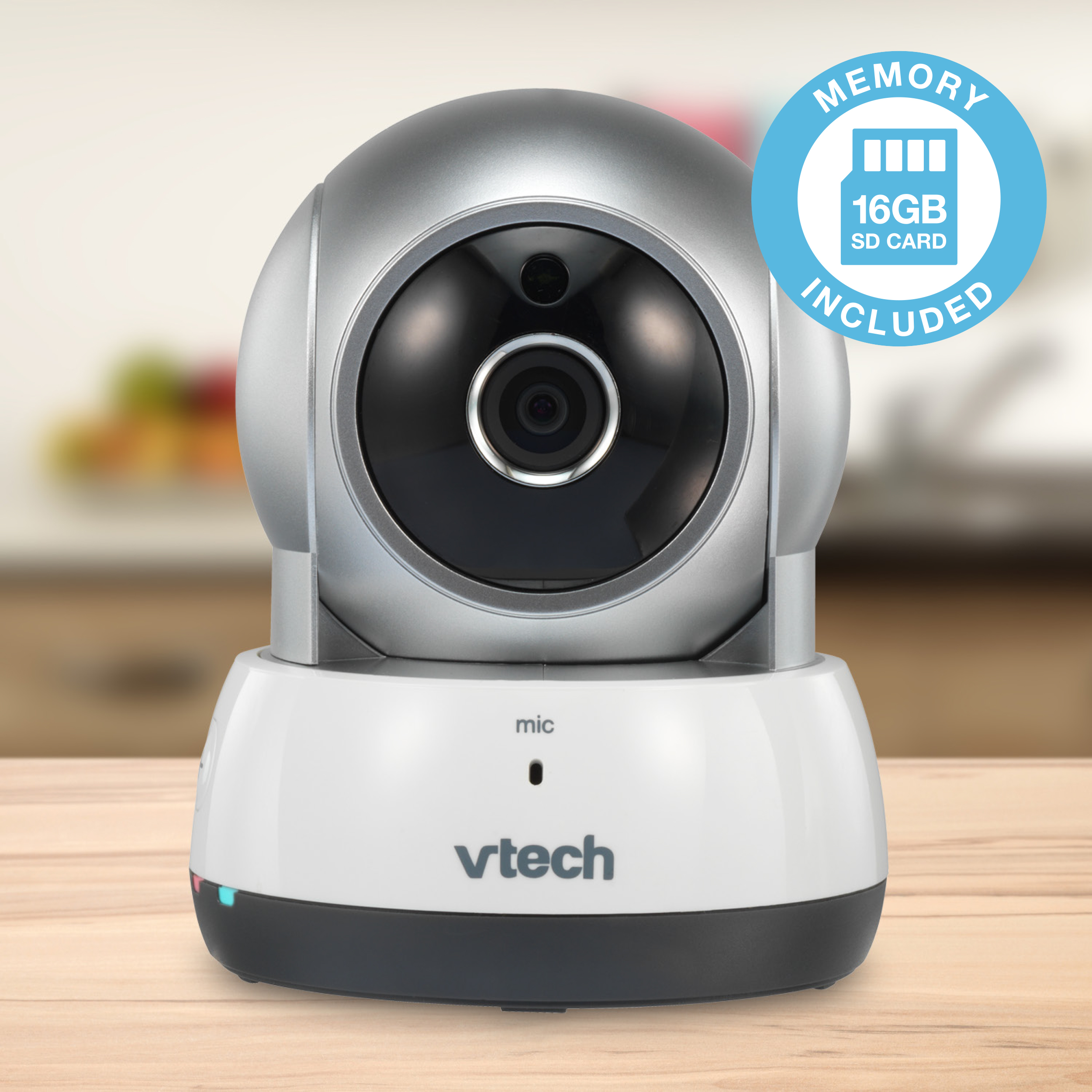 VTech VC9311-112 16GB Wi-Fi IP Video Camera with Remote Pan & Tilt, Free Live Streaming & Automatic Night Vision