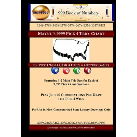 Maynus 9999 Pick 4 Trio Chart  For Pick 4 Win 4 Cash 4 Daily 4 Lottery Games