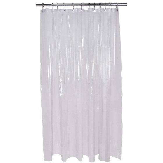 Bath Bliss Shower-Curtain Liner, Extra Long, Clear - Walmart.com