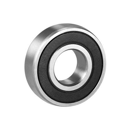 1/4 Chrome Steel Bearing - Deep Groove Ball Bearing 6000-2RS Single Sealed 10mmx26mmx8mm Chrome Steel 10Pcs