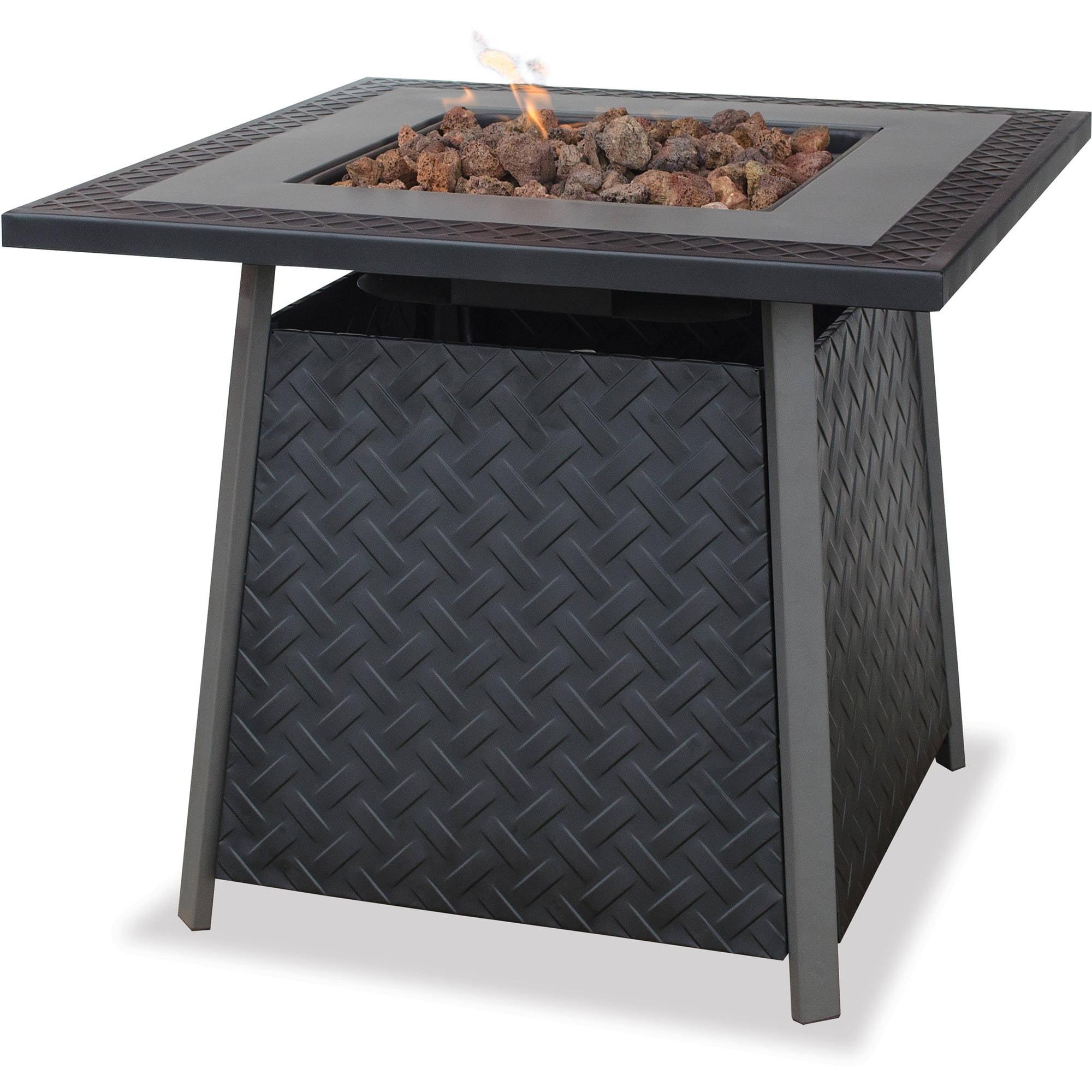 UniFlame LP Gas Slate Finish Fire Pit Table