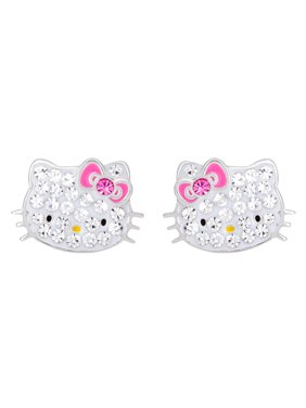 af6d86459 Product Image Sterling Silver Crystal Hello Kitty Stud Earrings
